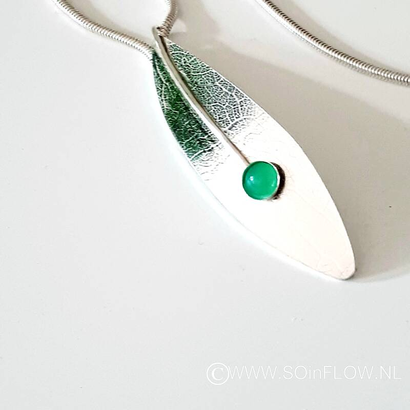 Necklace Linde with Chrysoprase