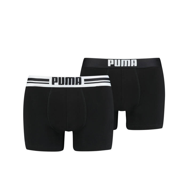 Puma Basic Boxer Placed Logo Black 2-Pack (651003001-200)