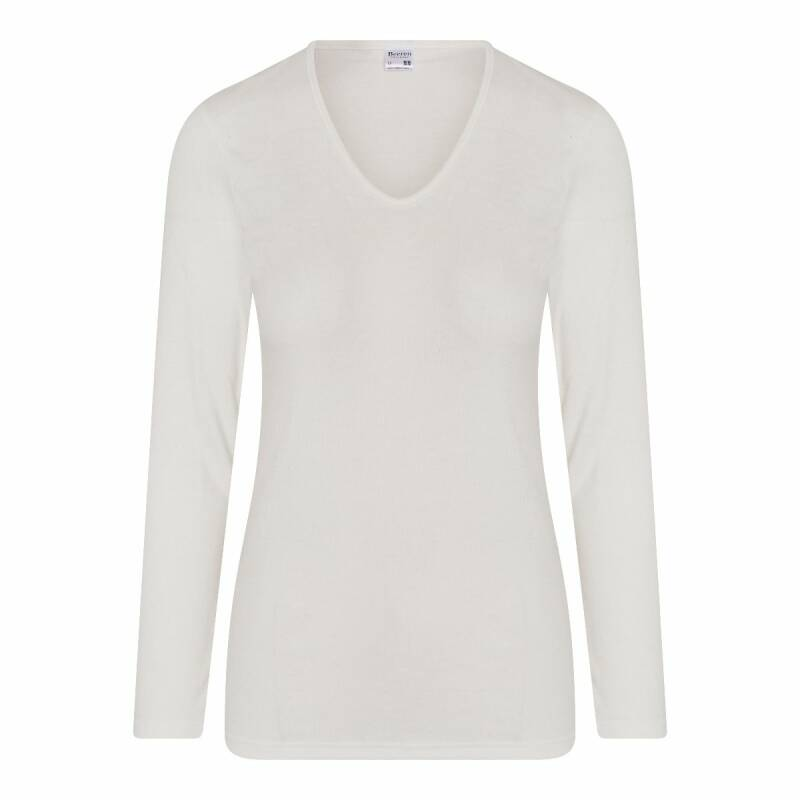 Beeren Thermo Shirt Lange Mouw Dames Wolwit