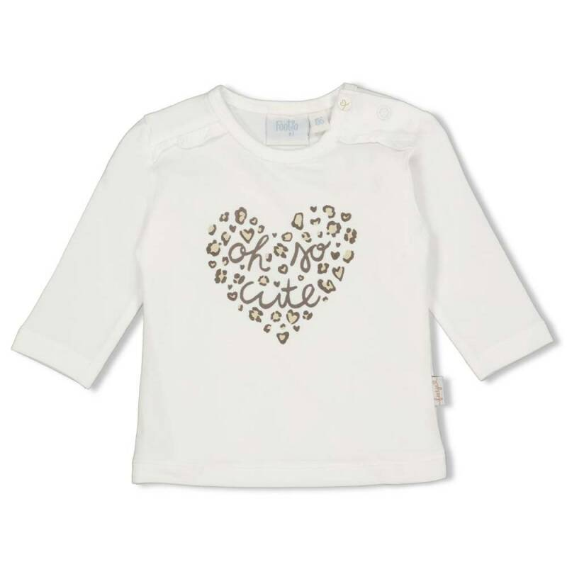 Feetje Shirt Lange Mouw Panther Cutie Offwhite (51601703)