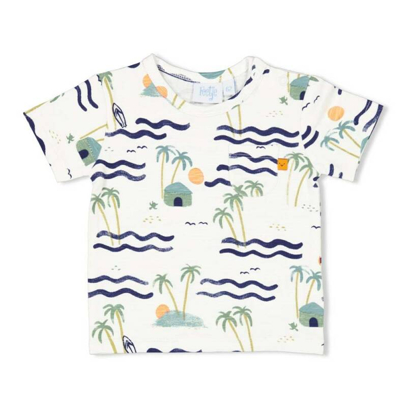 Feetje T-Shirt AOP Here Comes The Fun Wit (51700593)