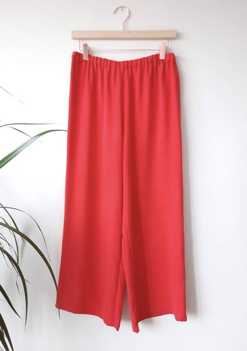 Winterblossom silk pants