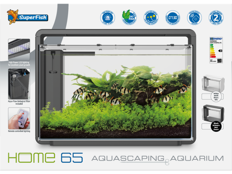 Superfish Home 65 Aquarium Zwart