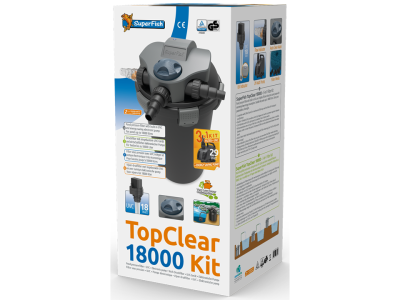 SuperFish Topclear Kit 18000 incl. pomp 5300 l/h