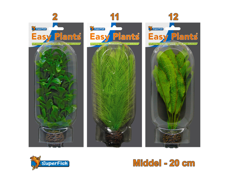 Easy Plants Aquarium kunst planten middel (Combinatieset 4)