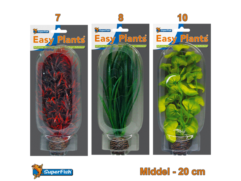 Easy Plants Aquarium kunst planten middel (Combinatieset 1)