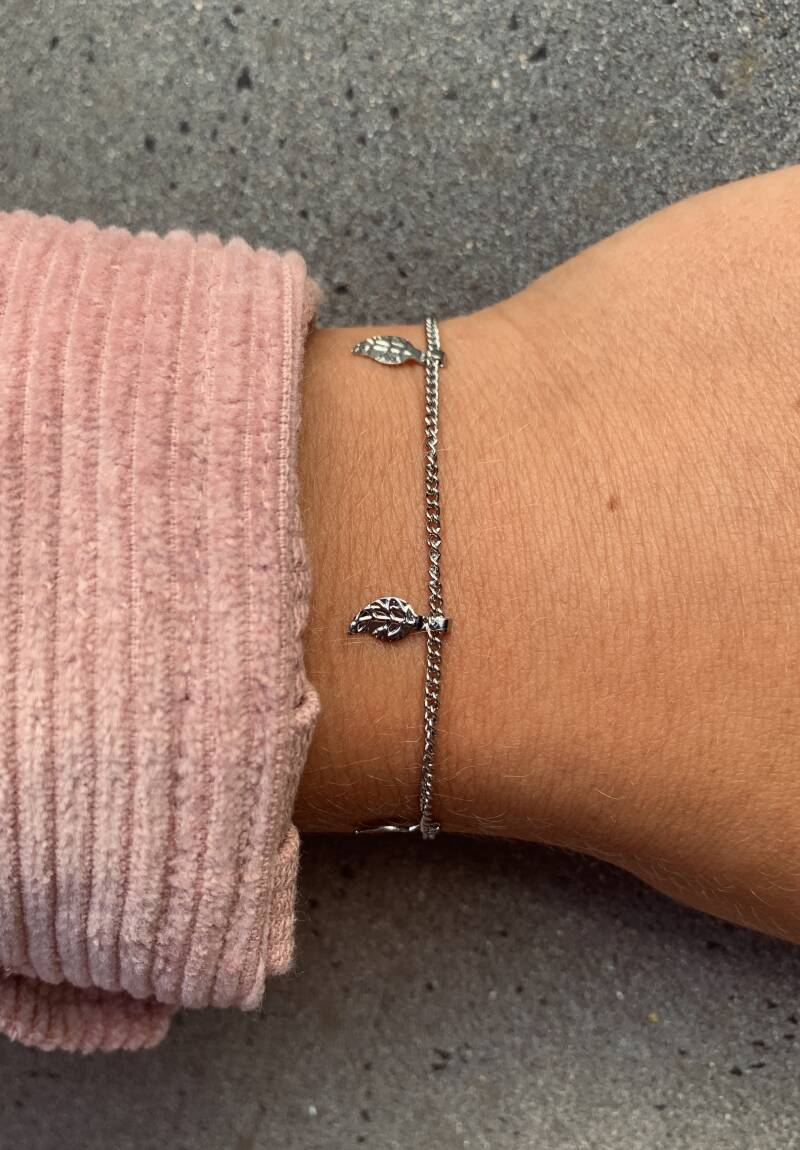 Armbandje Silver with Feathers - 2 st.