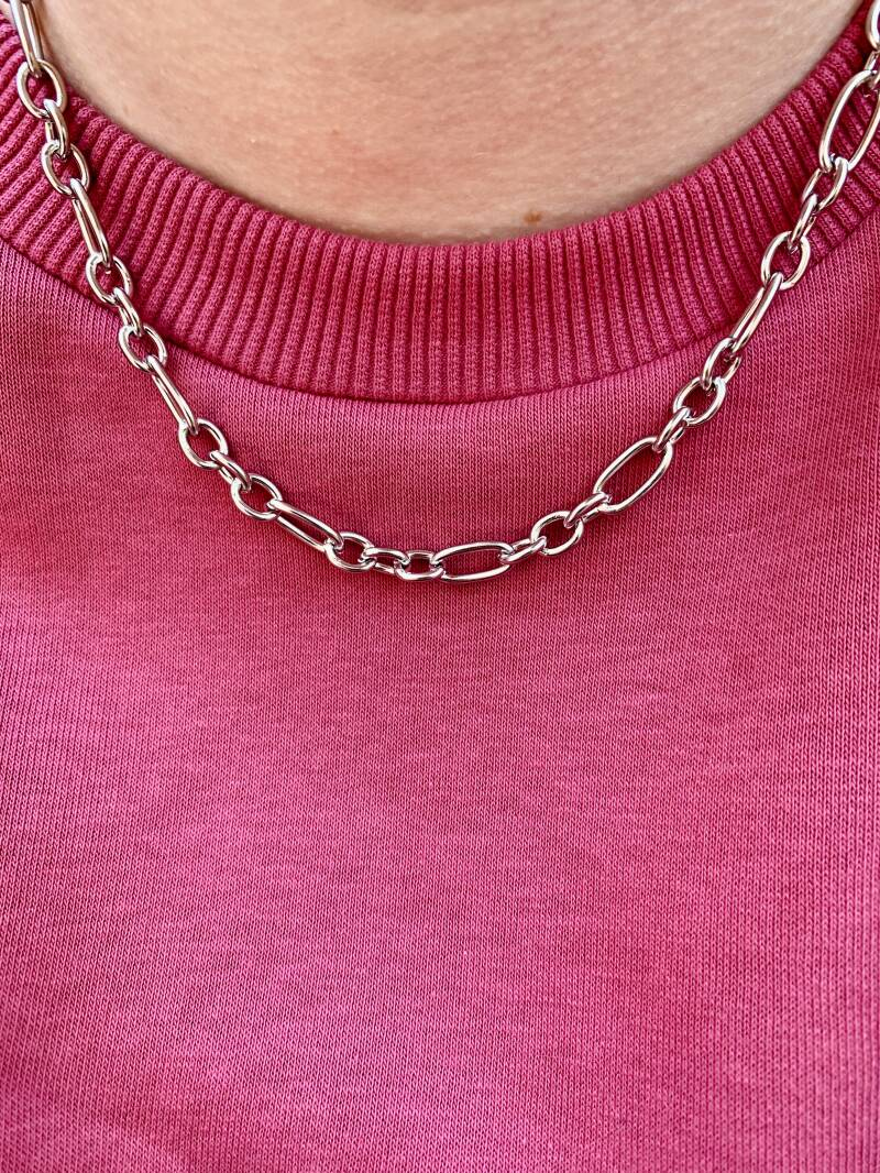 Ketting Mixed Chain Silver