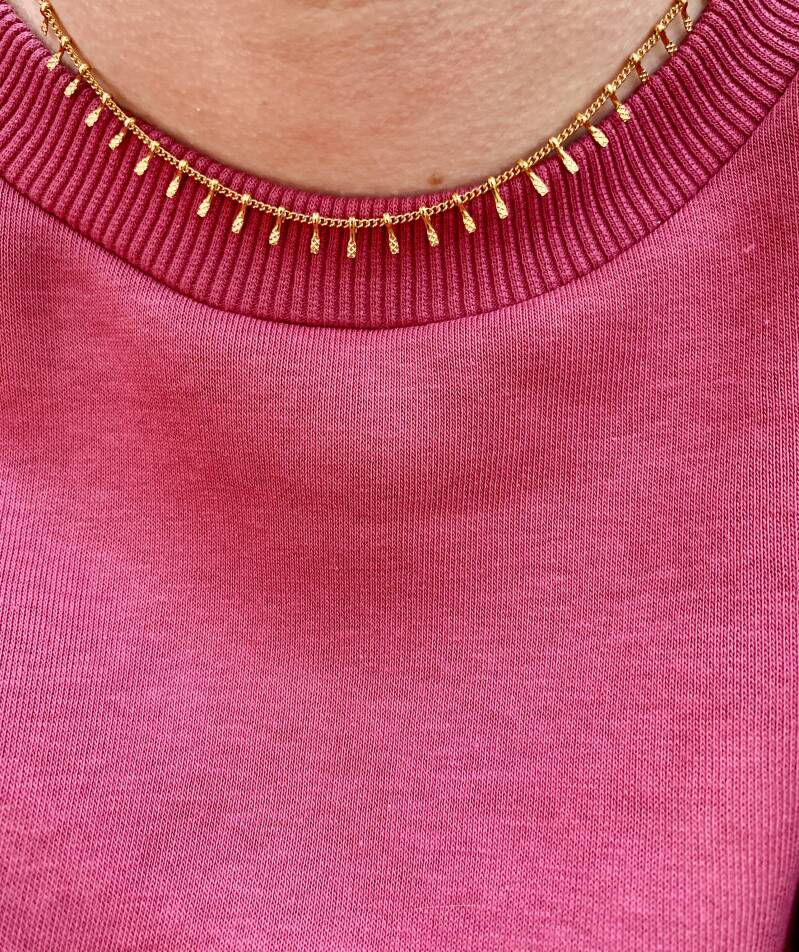 Ketting Spikes Gold (RVS)