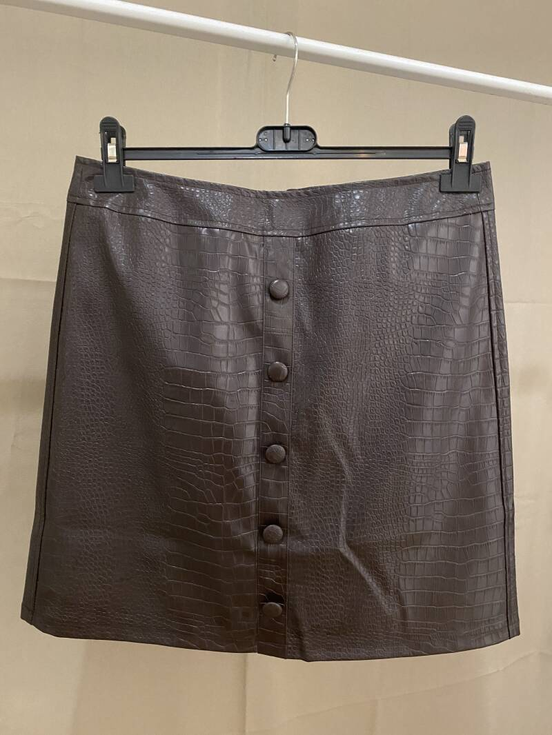 Skirt Leather Brown