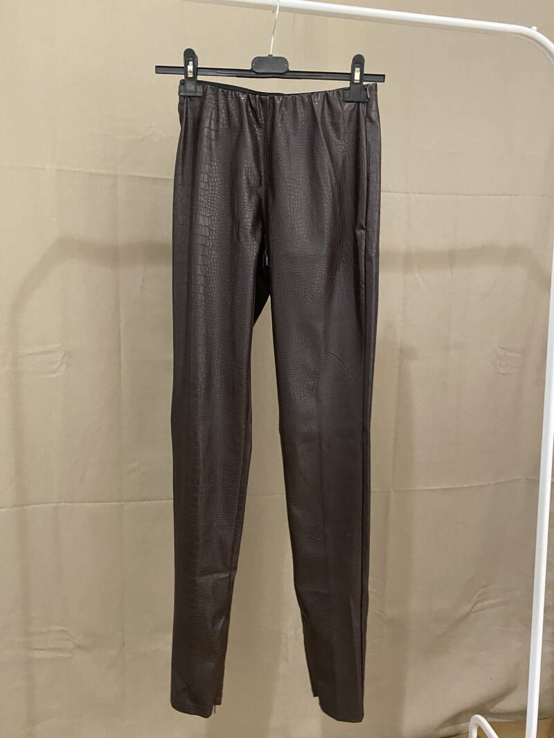 Pants Leather Brown