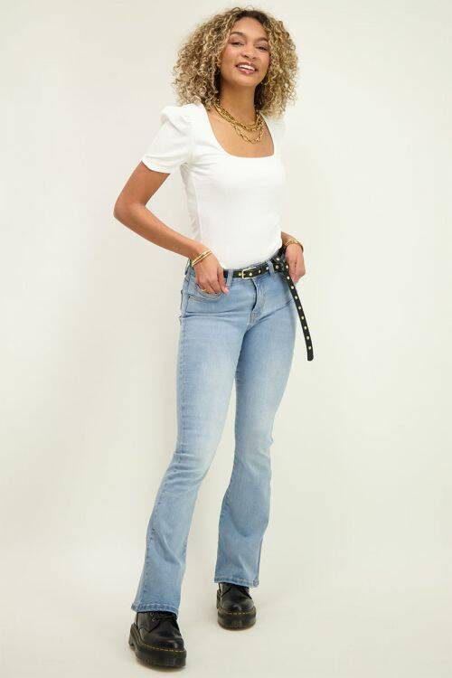 Flared jeans blauw