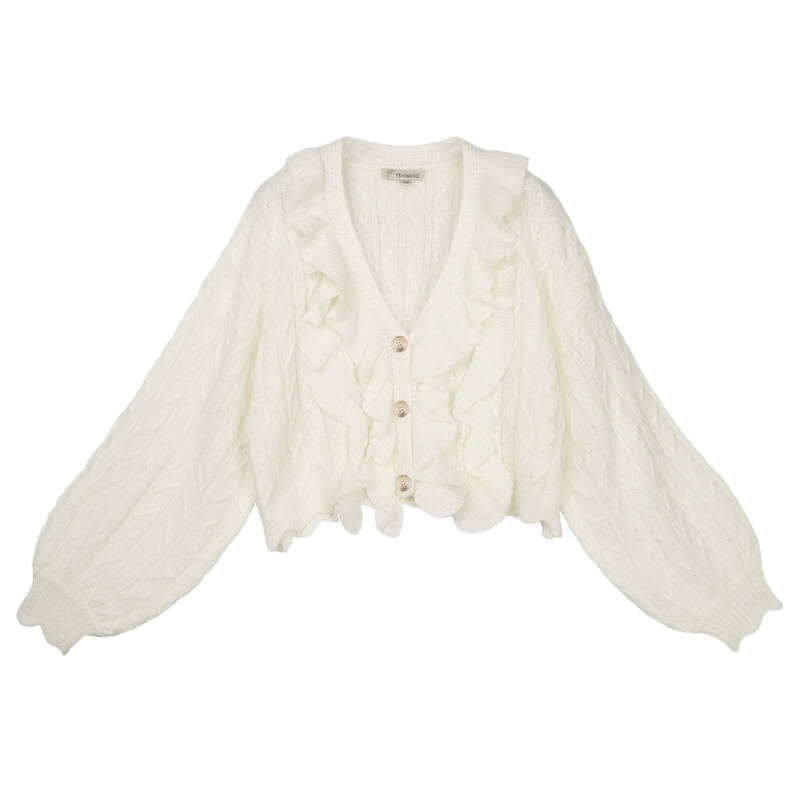 Cardigan Rodeo White