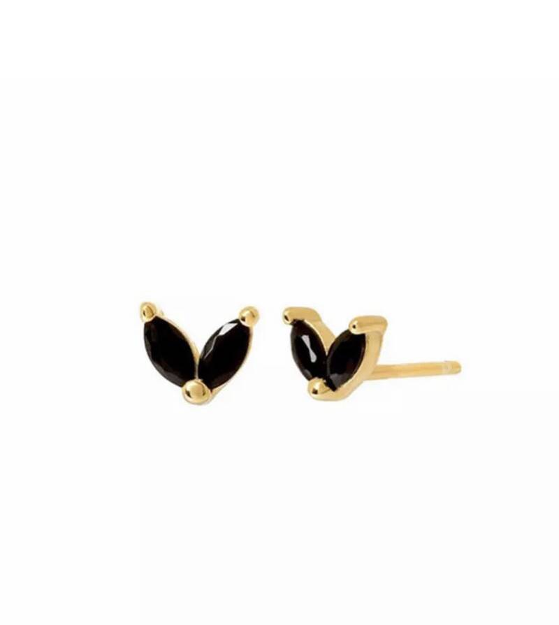Earrings House Of Love Black Gold