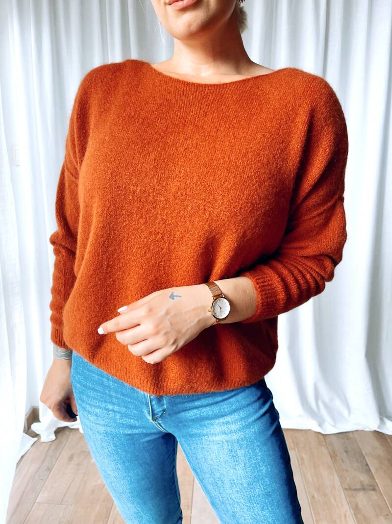 Pull Milie Red Brown