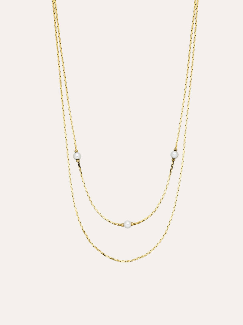 Paul Valentine Ariel Necklace 18K Gold Plated