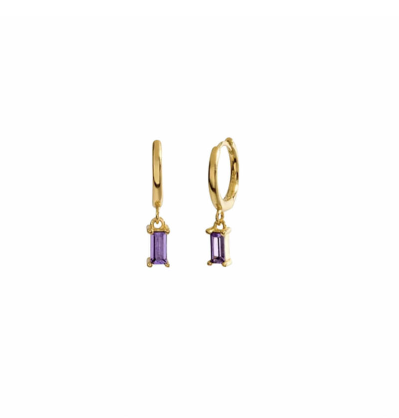 Earrings Classic Drop Lilac