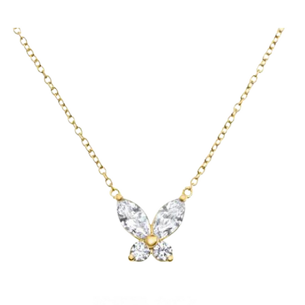 Lady Butterfly Necklace Gold