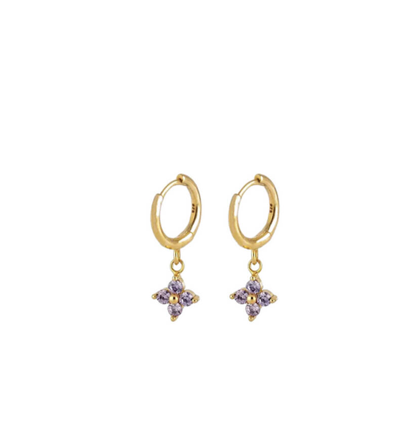 Earrings New Perspective Lilac