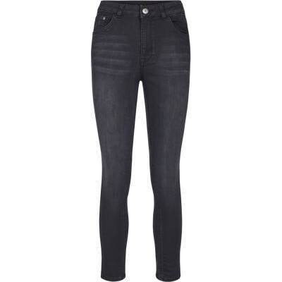 jeans met hoge taille in stretchstof