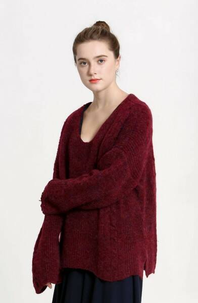 bordeaux oversized trui