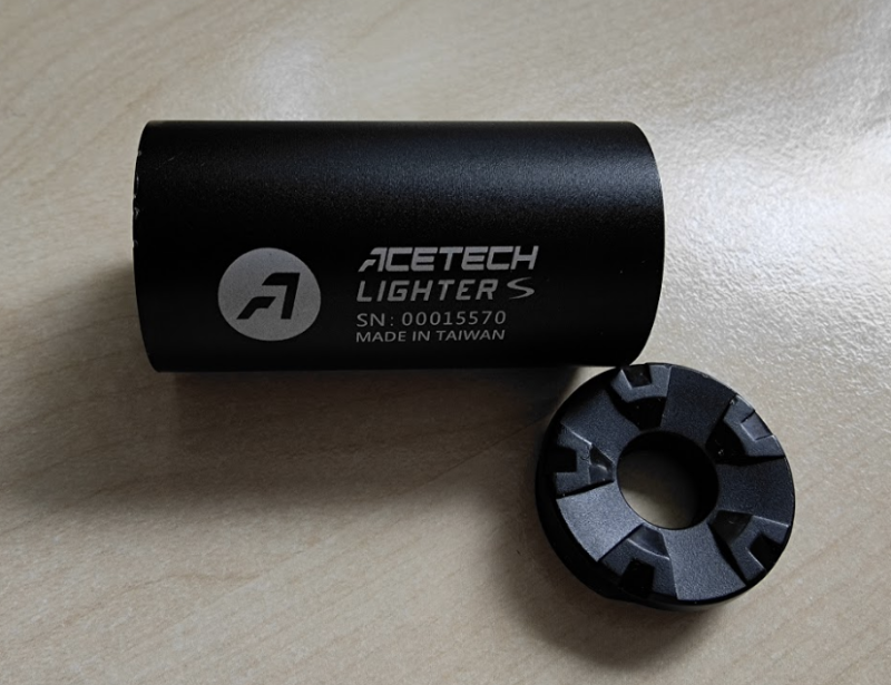 Acetech Lighter S shell and end cap