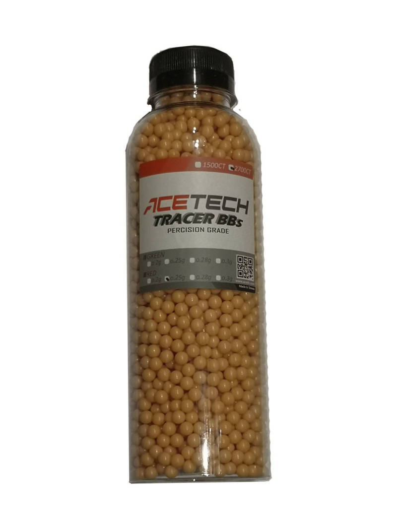 Actech RED tracer 0.25G BBs 2700 pieces bottle