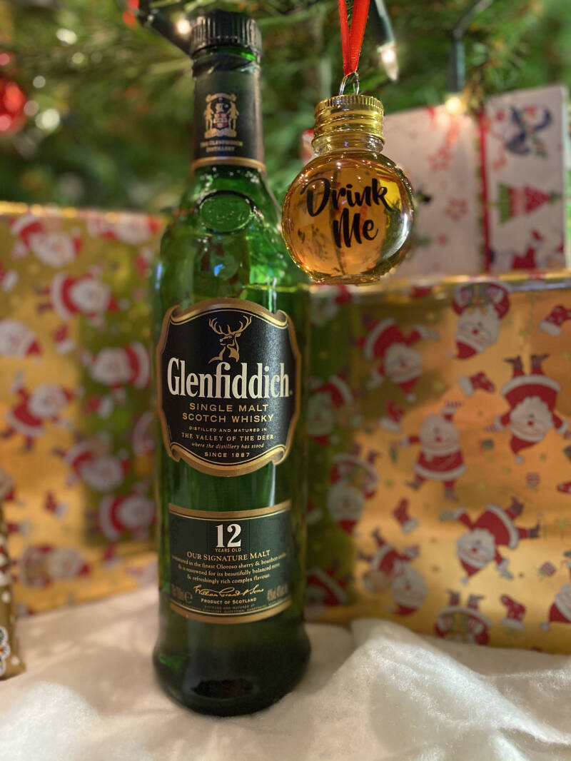 Whisky Kerstbal Glenfiddich 12 years Single Malt Whisky