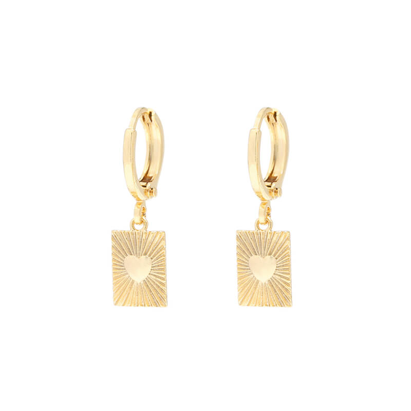 Earrings Show Me Love Gold