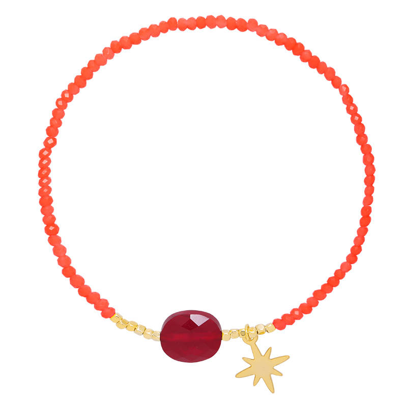 Bracelet Happy star Red
