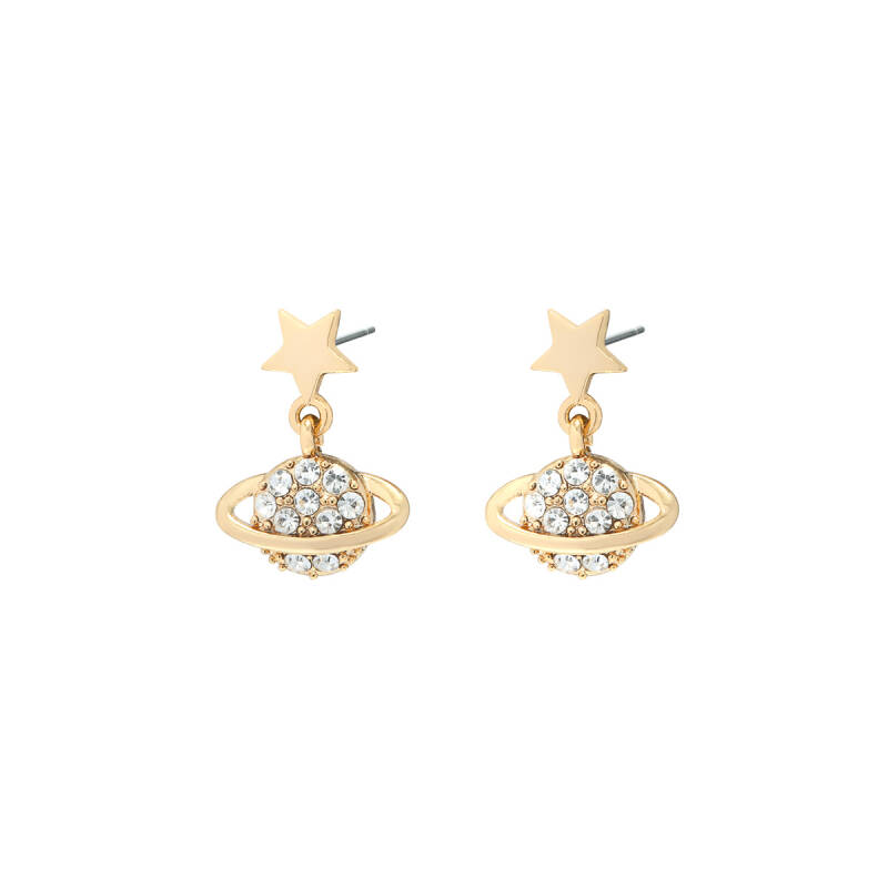 Earrings planet Gold Diamant