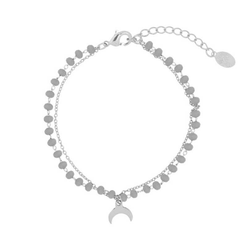 Bracelet Beads & Moonlight Grey