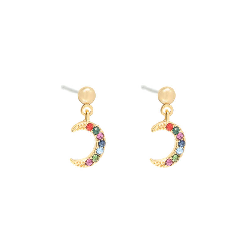 Earrings Moon Happy Gold