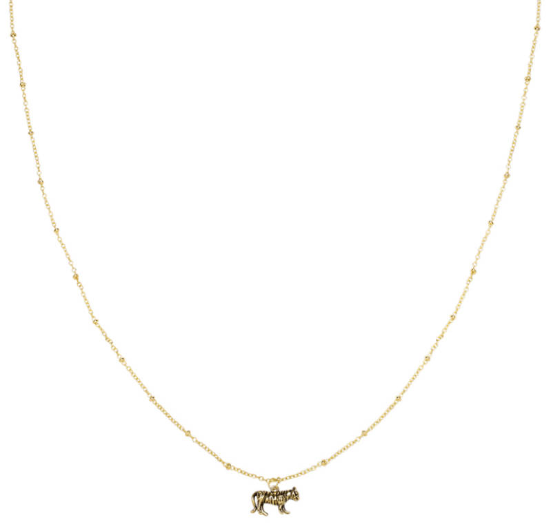 Necklace Wild tiger Gold