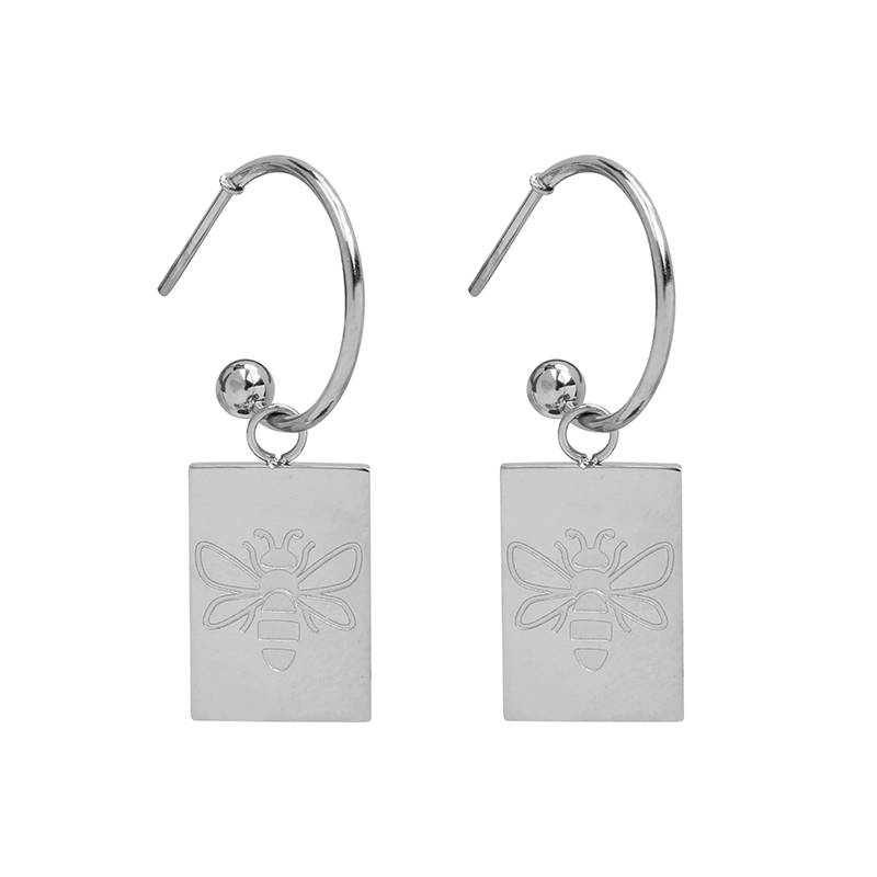 Earrings Queen Bee silver
