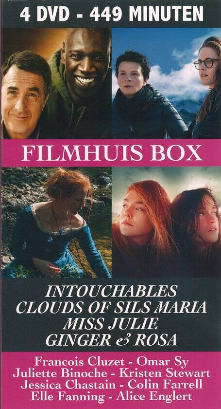 Filmhuis box: Intouchables-Clouds of sils Maria, Miss Julie- Ginger & Rosa
