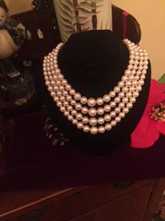 1960s 4 String Pearl Necklace