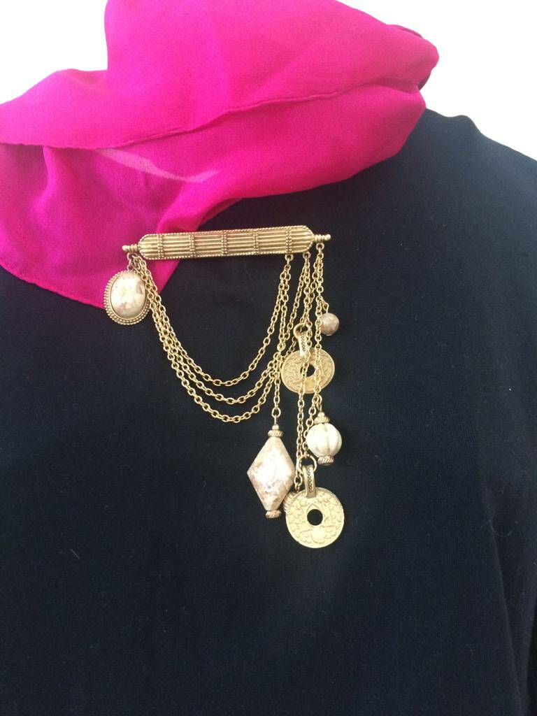 60s Bar Brooch with individual charms
