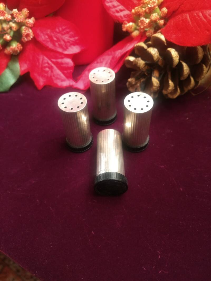60s Stamped Silver Individual Salts