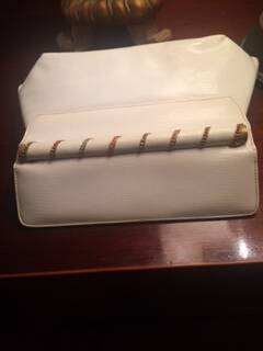 1940s White Patent Leather Clutch