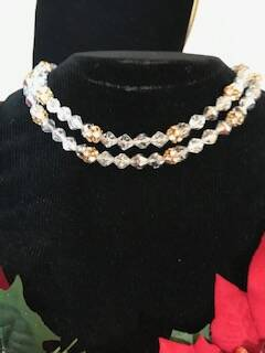 60's 2 String Crystal and Gilt Necklace Was €25 now €20
