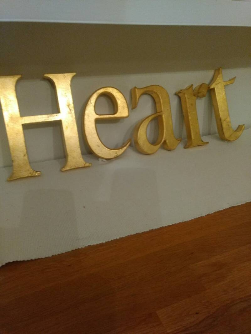 1960s Gold Store Front Letters