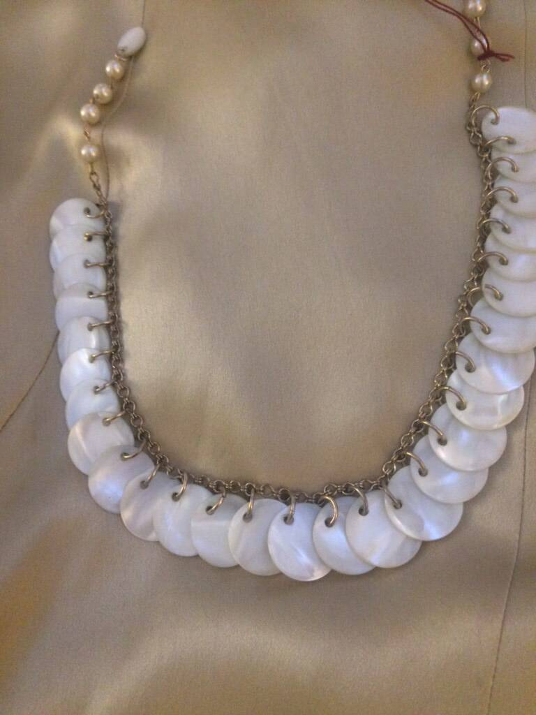 1950s Mother of Pearl & Gilt Necklace