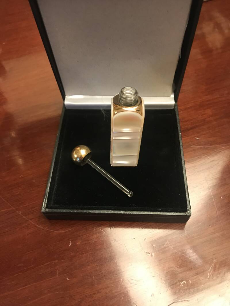 Weiesner Mother of Pearl and Brass Scent Bottle