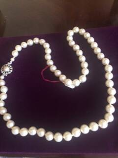 1940s Single String Pearls with Silver Clasp