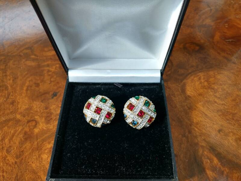 Diamante, Red, Blue and Green Earrings Were €50 now €40