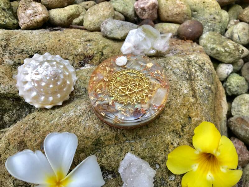 Cosmic Angelic Vibrations Sacred Geometry Orgone Orgonite® Charging Plate For Light, Love & Abundance
