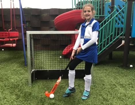 Mini hockeydoel type 120 Play met kantplank