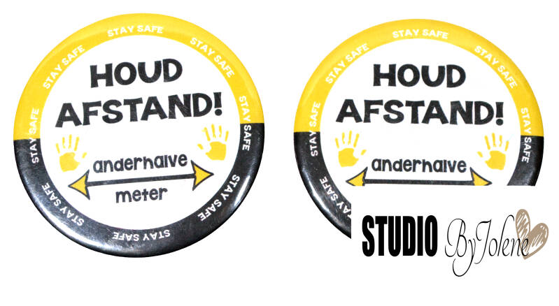 HOUD AFSTAND BUTTON || 1.5 METER || 58 MM
