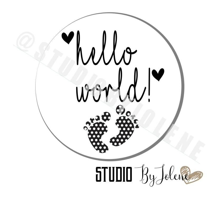 STICKER HELLO WORLD || 24 STUKS